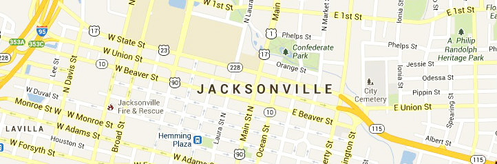 Map Of Jacksonville-FL-Service Area