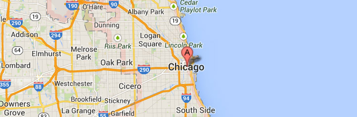 Map of Chicago-Illinois-service area