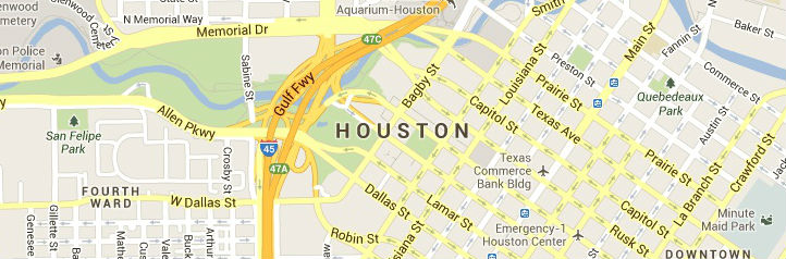 Map of Houston-Texas Service Area