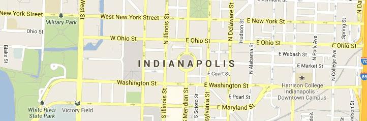 Map Indianapolis-Indiana service Area