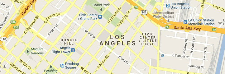 Map of Los-Angeles-California service area