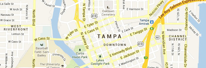 Tampa-map