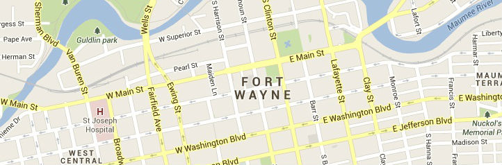 fort wayne-map