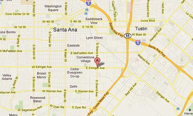 Santa Ana CA Map