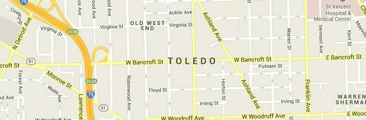 Toledo OH Map