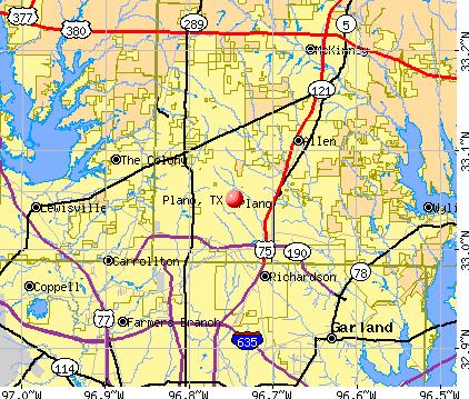 Plano TX Map