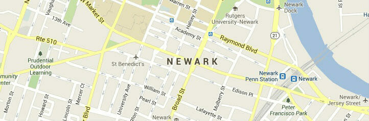 newark newjersey-map
