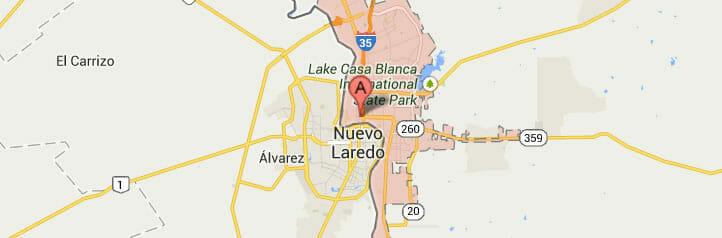 Laredo-map