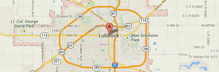 Lubbock-map