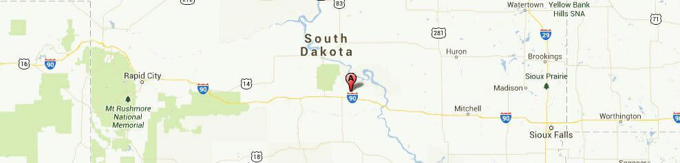 South Dakota-map