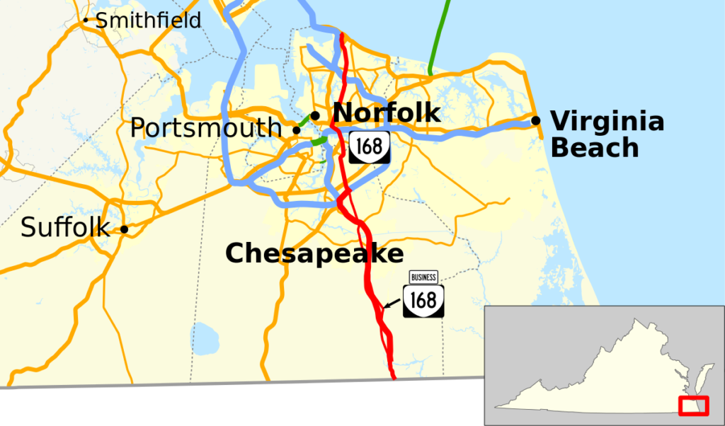Chesapeake Map