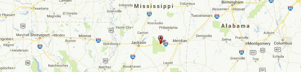 Mississippi-map