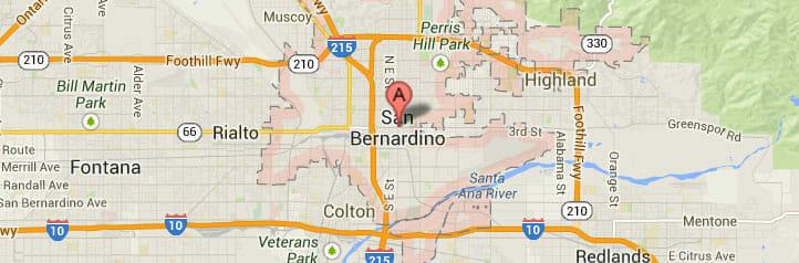 San Bernardino-map