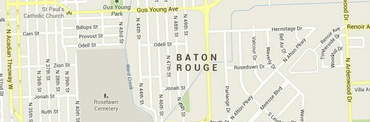 baton rouge-map