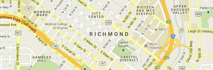 richmond virginia-map