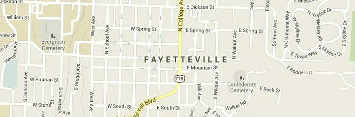 fayetteville north carolina-map