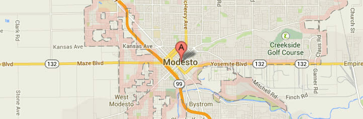 Modesto-map